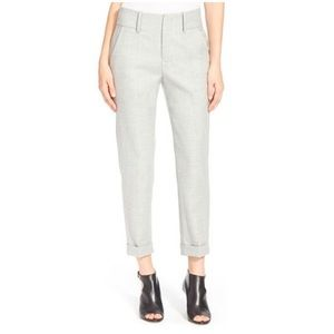 AYR The Cuffed Crop Trouser Pant Heather Gray sz 6